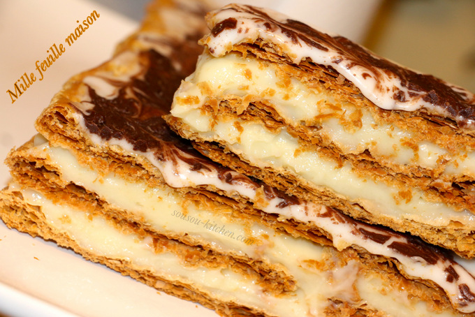 how to cut mille feuille