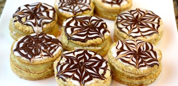 Mini Mille feuille maison traditionnel, recette facile