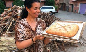 Msemen cuit au four traditionnel du quartier