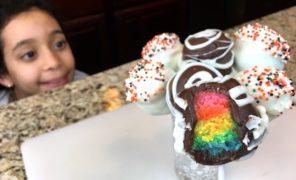 Recette de Cake pop arc en ciel