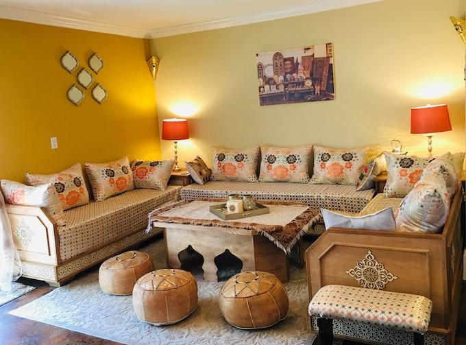 Mon salon marocain ici en USA-Partie 3 - Sousoukitchen